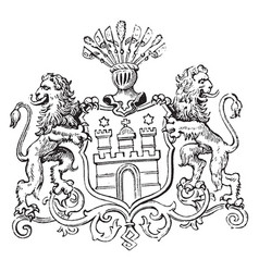 The great seal of hamburg is a seal of germany vector