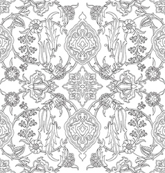 Tile oriental floral seamless doodle ethnic patter vector
