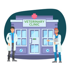 Veterinary clinic flat color vector