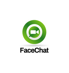 video chat internet technology logo sign symbol vector image