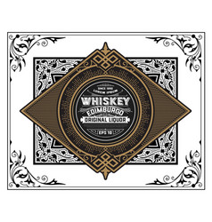 Vintage whiskey label vector