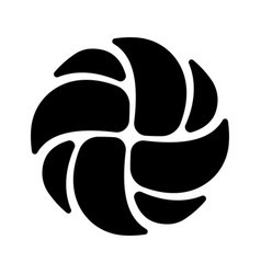 Volleyball black silhouette vector