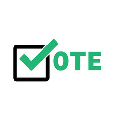 voting 2020 icon with vote election symbol 2020 vector image