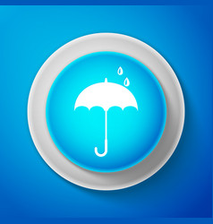 white icon isolated on blue background vector image