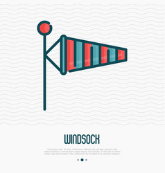 windsock thin line icon vector image