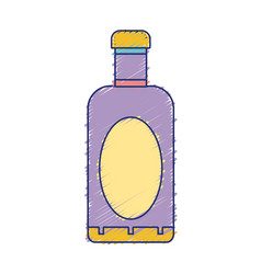 Wine bottle liquor to special celebration vector
