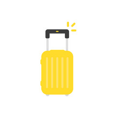yellow travel suitcase isolated on white vector image
