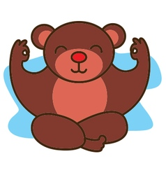 Yoga Bear vector