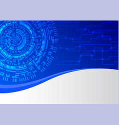 blue network technology abstract background vector image