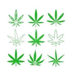 Medical marijuana or cannabis icons set vector image vector image