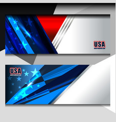 usa flag banner design vector image vector image