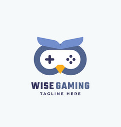 wise gaming abstract sign symbol or logo vector image