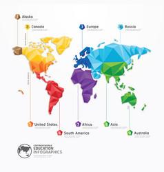 World map infographics geometric concept design vector