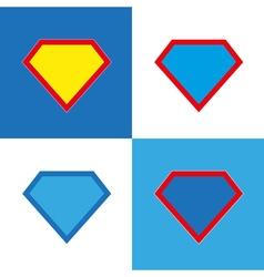 Blank super hero badge set vector