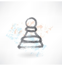 chess pawn grunge icon vector image vector image