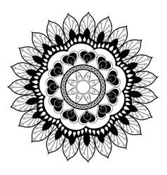 floral mandala bohemian culture meditation vector image vector image