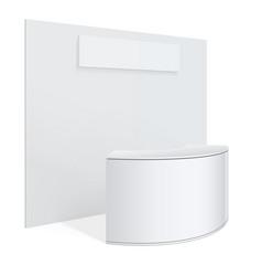 white reception or information desk vector image