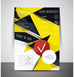Business corporate flyer template vector image