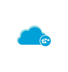 cloud computing icon bubble speech telephone icon vector image