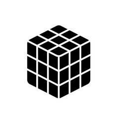 cube rubik icon black sign vector image