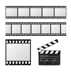 Film Strip Set and Chalkboard vector image