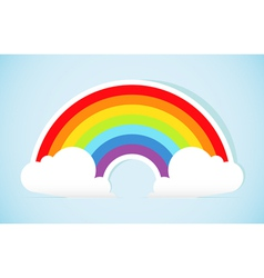 Abstract paper rainbow vector image vector image