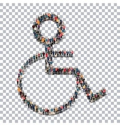 disabled isometrick people 3d vector image vector image