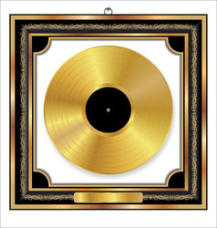 Gold Vinyl Disc award vector image vector image
