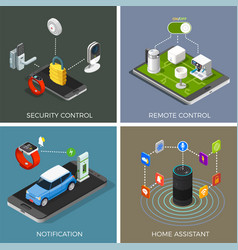 internet of things isometric concept vector image vector image