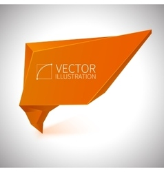 Shiny orange banner vector image