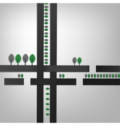 02 Cell Abstract Roads vector image