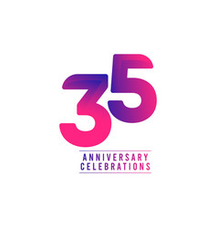 35 years anniversary celebrations template design vector