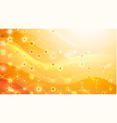 abstract gold background with hexagonal elements vector image
