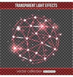Abstract sphere with lights effect over vector image