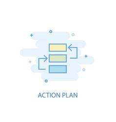 Action plan line concept simple line icon vector