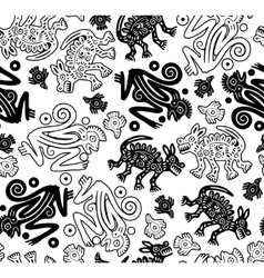 african indigenous seamless wild animal texture vector image