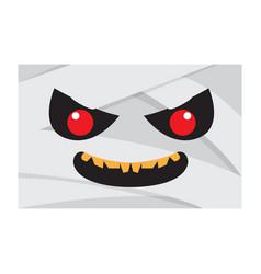 angry halloween cartoon mummy avatar vector image