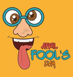 April fools day design vector