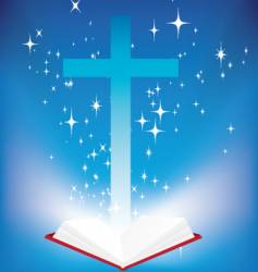 bible light book vector image