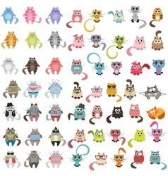 Big set of cats vector