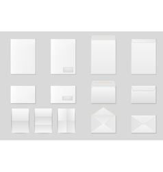 Blank paper envelopes vector image