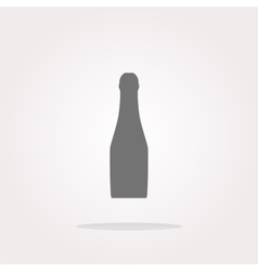 bottle with drink - icon glossy button vector image