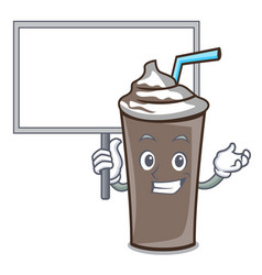 bring board ice chocolate character cartoon vector image
