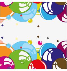 bubble colour background vector image