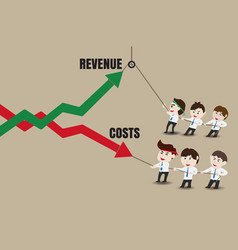 Business people are increasing revenue and reduce vector