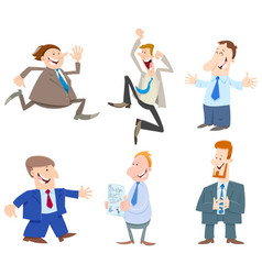 businessmen or men cartoon characters collection vector image