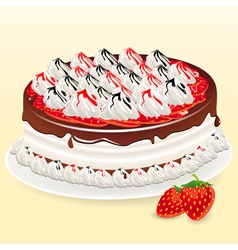 cake and mildberry vector image
