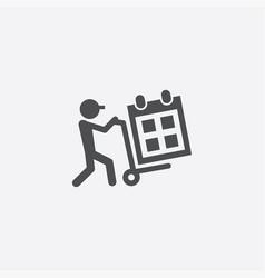 calendar delivery icon vector image