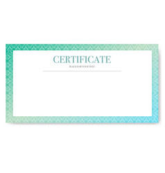 certificate isolated white background vector image
