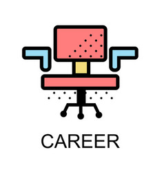 chair icons for career on white background vector image
